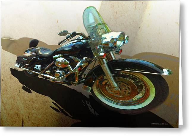 Photo Effects Greeting Cards - Harley Davidson Greeting Card by Maria Eames