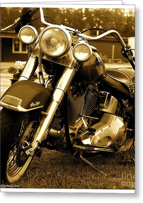 Cult Photos Greeting Cards - Harley - Davidson model november rain. Featured 3 Times Greeting Card by  Andrzej Goszcz