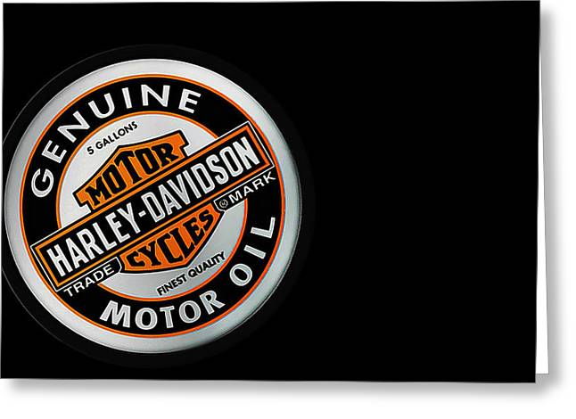 Harley Davidson Greeting Cards - Harley-Davidson Motor Oil Phone Case Greeting Card by Mark Rogan