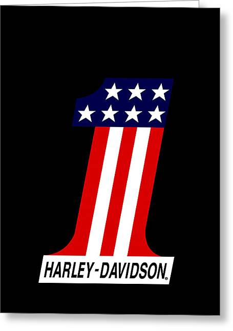 Stripes Greeting Cards - Harley Davidson No1 Phone Case Greeting Card by Mark Rogan