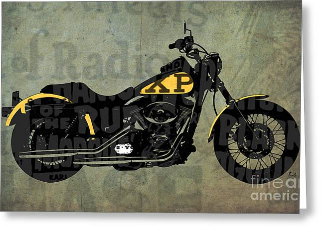 Newspaper Collage Greeting Cards - Norton Commando on the news Greeting Card by Pablo Franchi