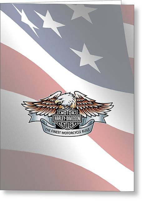 Harley Davidson Greeting Cards - Harley Davidson Phone Case Greeting Card by Mark Rogan