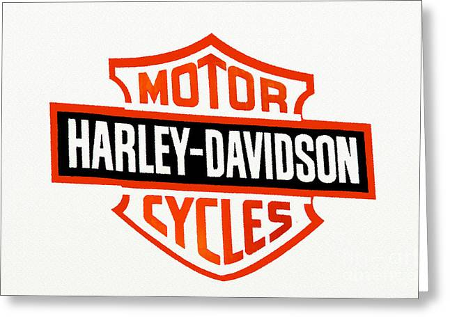 Design And Photography. Greeting Cards - Harley Davidson Sign 2 Greeting Card by Andee Design