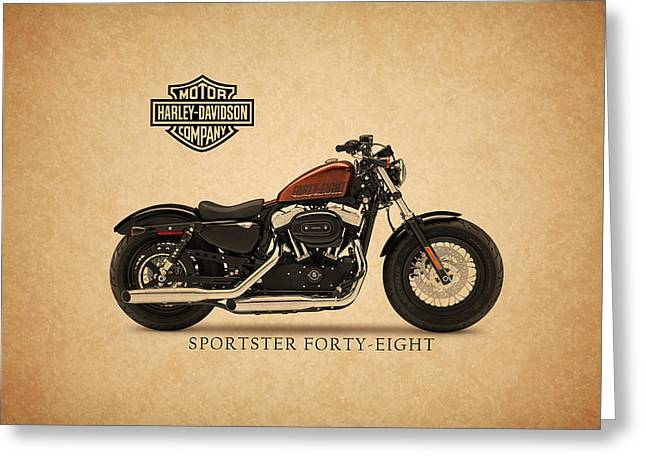Motorcycles Greeting Cards - Harley Davidson Sportster 48 Greeting Card by Mark Rogan