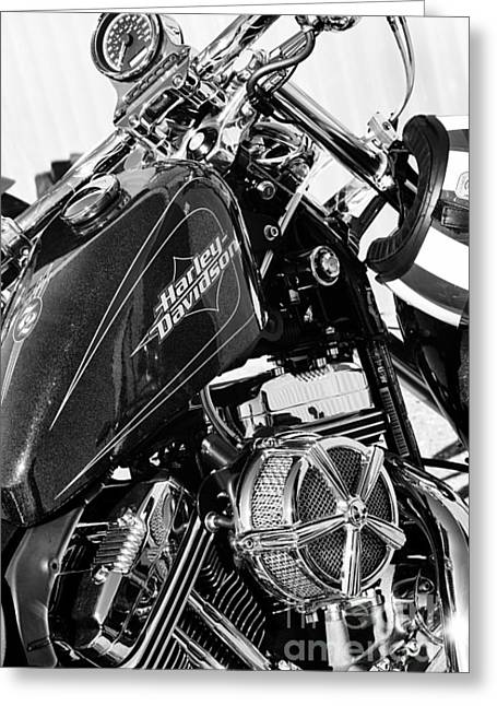 V Twin Greeting Cards - Harley Davidson Sportster Greeting Card by Tim Gainey