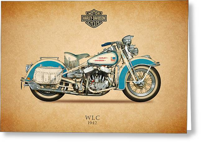 Glide Greeting Cards - Harley Davidson WLC 1942 Greeting Card by Mark Rogan