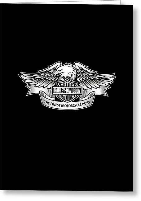 Harley Davidson Greeting Cards - Harley Eagle Phone Case Greeting Card by Mark Rogan