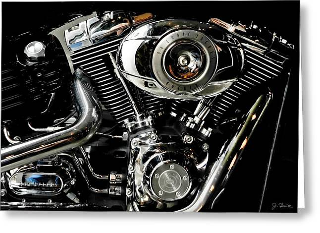 Harley Greeting Card by Joe Bonita