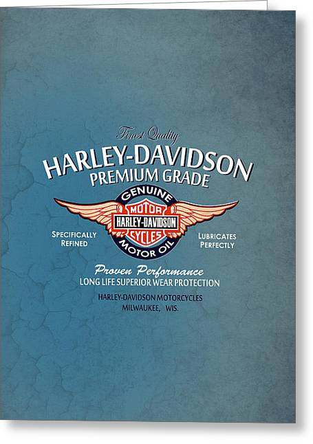 Harley Davidson Greeting Cards - Harley Premium Grade Phone Case Greeting Card by Mark Rogan