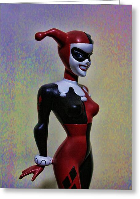 Heath Ledger Greeting Cards - Harley Quinn the Harlequin Greeting Card by Lee Dos Santos