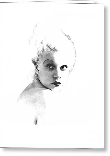 Platinum Blonde Greeting Cards - Harlow #4 Greeting Card by Maureen Tillman
