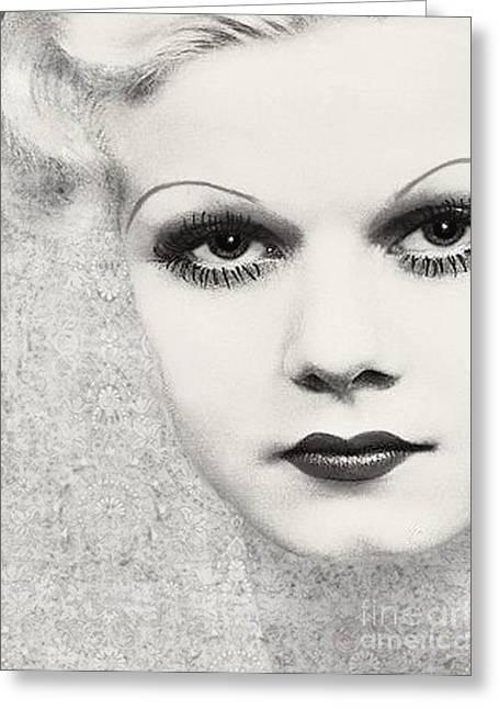 Platinum Blonde Greeting Cards - Harlow #5 Greeting Card by Maureen Tillman