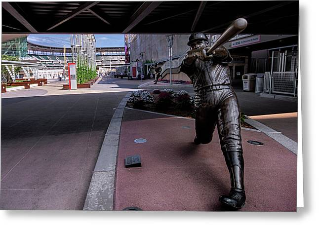 Harmon Killebrew Statue And Target Field Greeting Card by Tom Gort