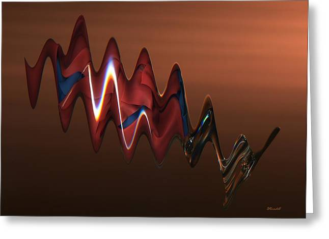 Geometric Effect Greeting Cards - Harmonic Flow Greeting Card by Dennis Lundell