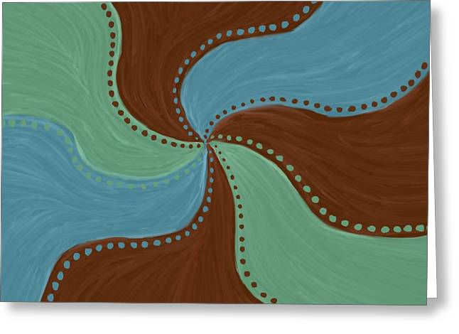 Dot Pastels Greeting Cards - Harmony Greeting Card by Allyson Rico