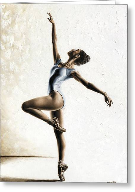 Ballet Dancers Greeting Cards - Harmony and Light Greeting Card by Richard Young