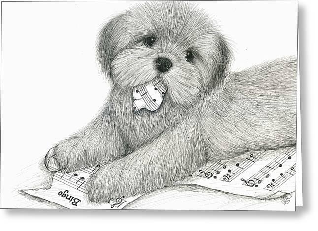 Bad Drawing Greeting Cards - Harmony Creates Discord Greeting Card by Christine Matha