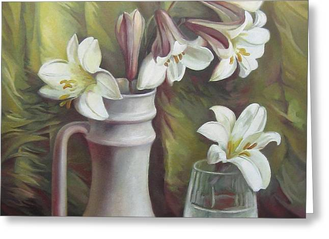 Glass Vase Greeting Cards - Harmony Greeting Card by Elena Oleniuc