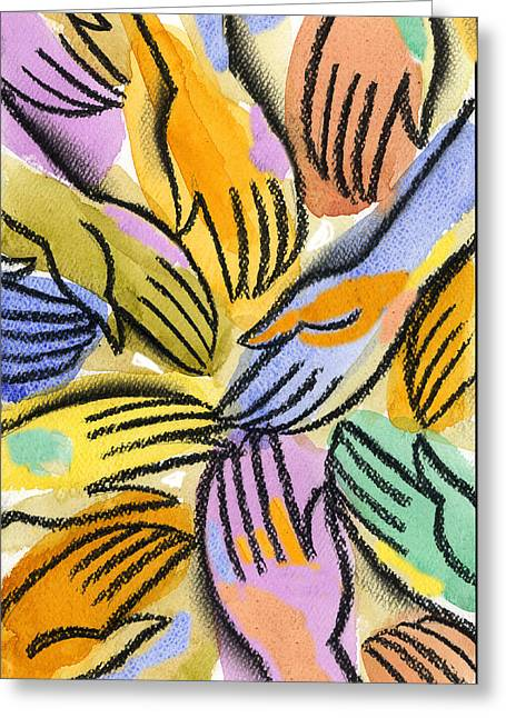 Close Up Paintings Greeting Cards - Harmony Greeting Card by Leon Zernitsky