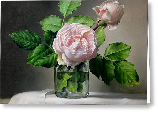 Rose Paintings Greeting Cards - Harmony Greeting Card by Pieter Wagemans