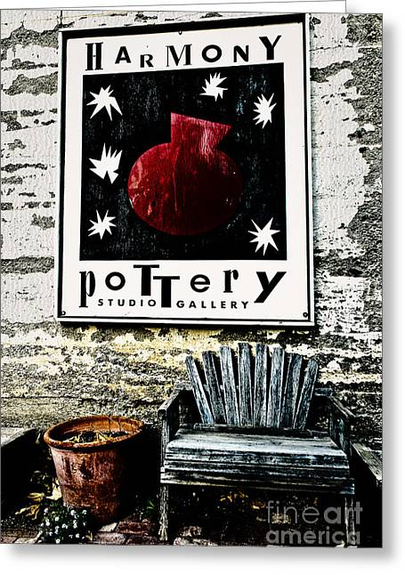 Terry Garvin Greeting Cards - Harmony Pottery Greeting Card by Terry Garvin