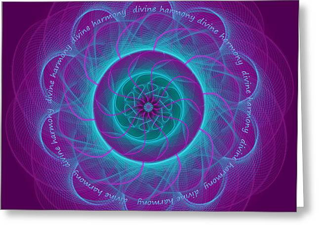 Chakra Rainbow Digital Greeting Cards - Harmony Greeting Card by Sarah  Niebank