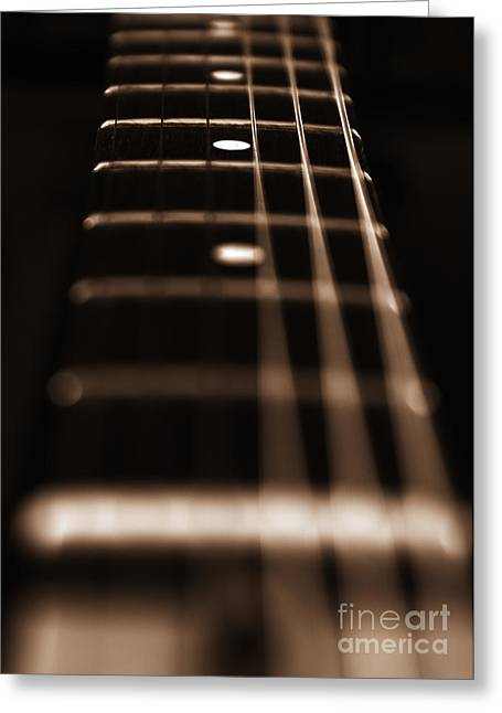 Fretboard Greeting Cards - Harmony Greeting Card by Stylianos Kleanthous