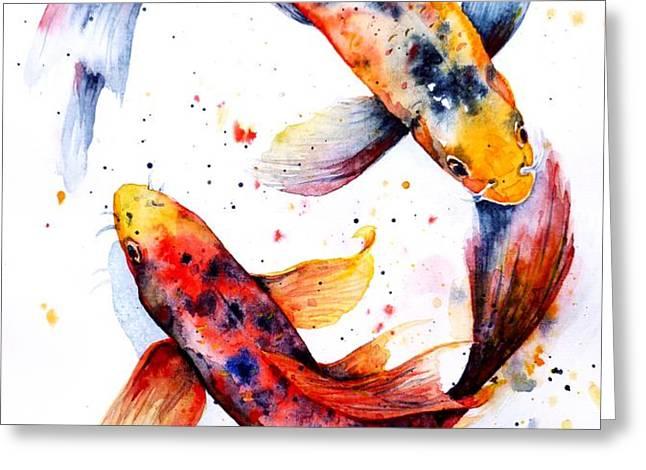 Harmony Greeting Card by Zaira Dzhaubaeva