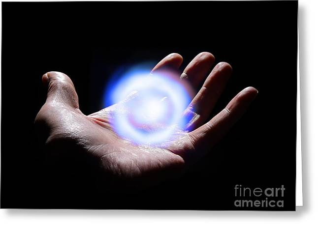 New Energies Greeting Cards - Harnessing Energy, Conceptual Image Greeting Card by Victor De Schwanberg