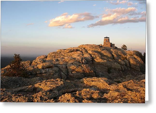 Harney Peak At Dusk Greeting Card by Daniel  Taylor