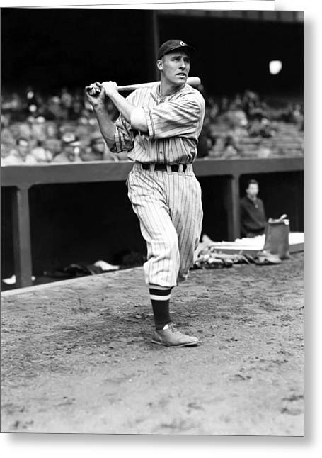 Cleveland Indians Greeting Cards - Harold A. Hal Trosky, Sr. Greeting Card by Retro Images Archive