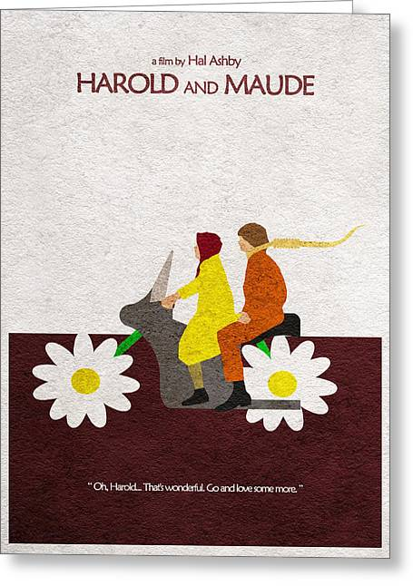 Cool Drawings Greeting Cards - Harold and Maude Greeting Card by Ayse Deniz