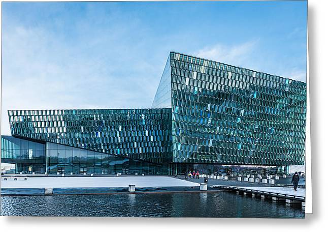 Tourism Greeting Cards - Harpa Concert Hall Greeting Card by Duane Miller