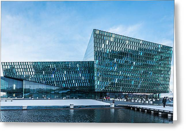 Harpa Concert Hall - Reykjavik Iceland Photograph Greeting Card by Duane Miller