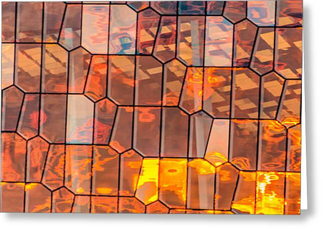 Pattern Greeting Cards - Harpa Sunset Greeting Card by Duane Miller