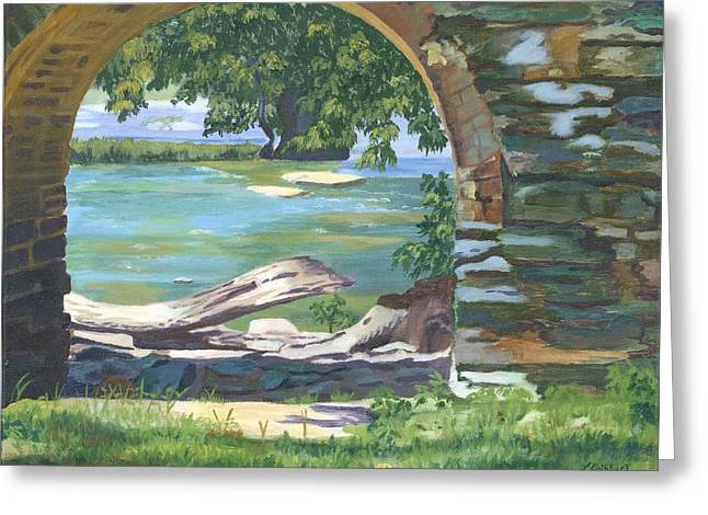 Harpers Ferry Paintings Greeting Cards - Harpers Arch Greeting Card by Lynne Reichhart
