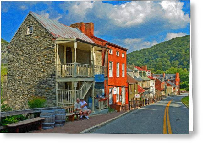 Harpers Ferry Paintings Greeting Cards - Harpers Ferry Greeting Card by Dean Wittle