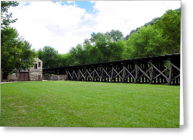 Harpers Ferry Digital Greeting Cards - Harpers Ferry Hardware and Railroad Greeting Card by Bill Cannon