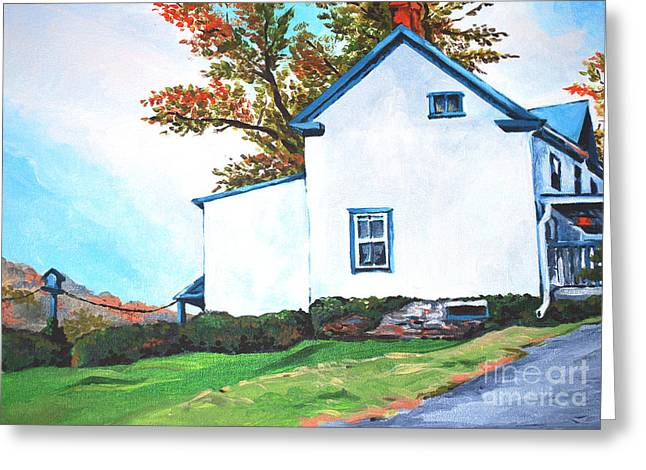 Harpers Ferry Paintings Greeting Cards - Harpers Ferry Hill House Greeting Card by Marta Lopez