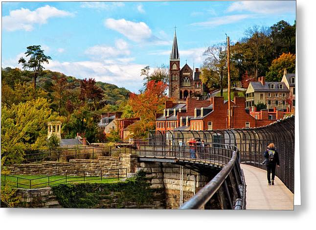 Civil Greeting Cards - Harpers Ferry in Autumn Greeting Card by John Bailey