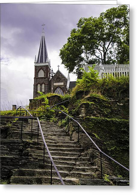 Harpers Ferry Digital Greeting Cards - Harpers Ferry - St Peters Church Greeting Card by Bill Cannon
