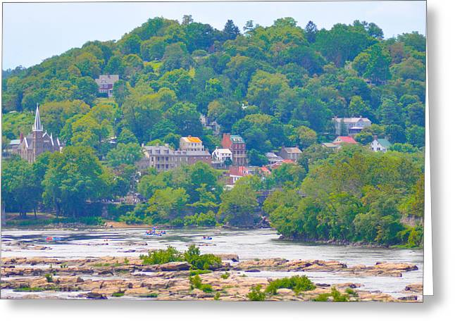 Harpers Ferry Digital Greeting Cards - Harpers Ferry View Greeting Card by Bill Cannon