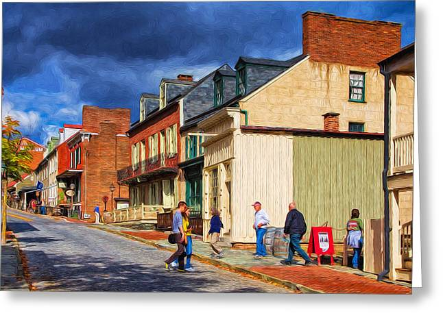 Historic Country Store Greeting Cards - Harpers Ferry Village Greeting Card by John Bailey