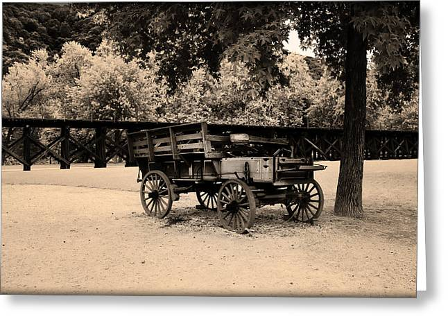 Harpers Ferry Digital Greeting Cards - Harpers Ferry Wagon Greeting Card by Bill Cannon