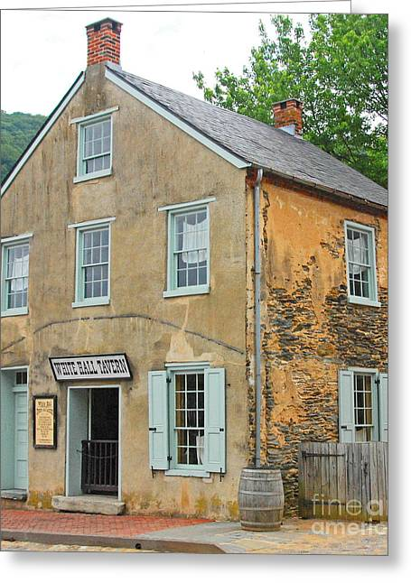Civil War Site Greeting Cards - Harpers Ferry - White Hall Tavern Greeting Card by Cindy Manero