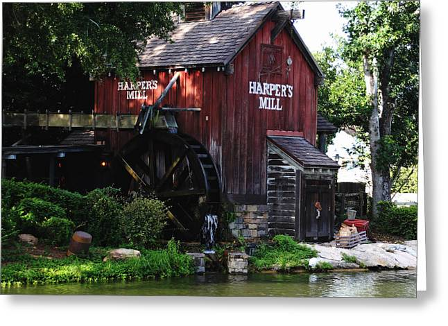 Grist Mill Greeting Cards - Harpers Mill Greeting Card by Debbie Oppermann