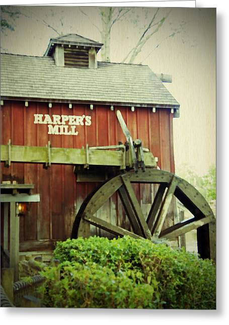 Generators Greeting Cards - Harpers Mill Greeting Card by Laurie Perry
