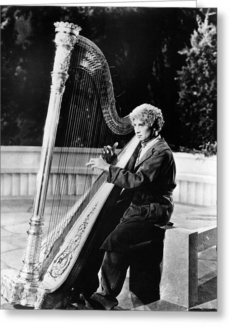 Marx Greeting Cards - Harpo Marx Greeting Card by Silver Screen