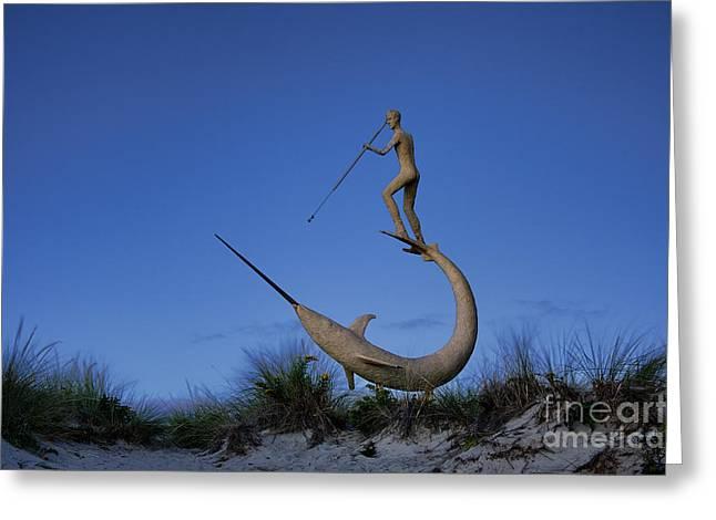 Swordfish Greeting Cards - Harpooner Sculpture Greeting Card by John Greim