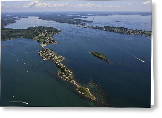 Harpswell Greeting Cards - Harpswell Neck, Maine Greeting Card by Dave Cleaveland